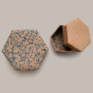 Konges Sløjd Padded Box Set Winter Leaves Mustards/ Flower Bouquet Dijon