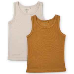 Liewood Faris Hemd 2-pack Golden caramel/Sandy