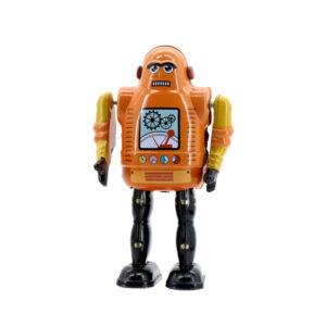 Mr & Mrs Tin Robot Mechanic Bot