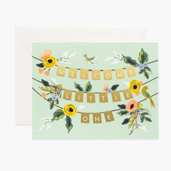 Greeting Cards - Kids - Welcome Garland